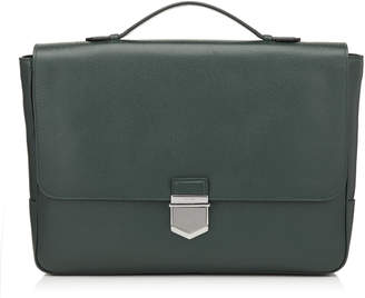 Jimmy Choo HESTON Bottle Soft Grained Calf Leather Briefcase