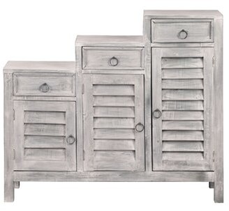 Ophelia & Co. Jonas Shutter 3 Drawer Accent Cabinet & Co.