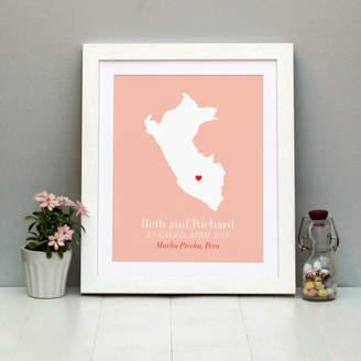 Brambler Engaged In Peru Personalised Print
