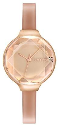 RumbaTime Women's 'Orchard Gem Patent' Quartz Metal and Leather Casual Watch