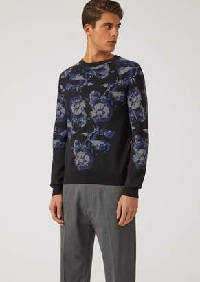 Emporio Armani Floral Jacquard Sweater