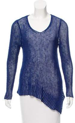 Eileen Fisher Open Knit V-Neck Sweater