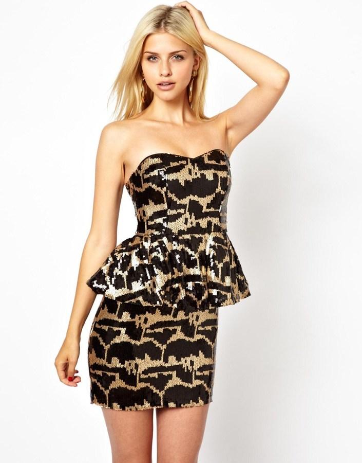 Rare Sequin Peplum Dress