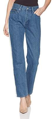 Calvin Klein Jeans Women's High Rise Straight Leg Denim