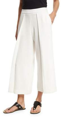 Rag & Bone Rowe Wide-Leg Culotte Trousers, White