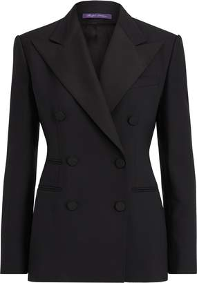 Ralph Lauren Buffy Wool-Silk Tuxedo Jacket