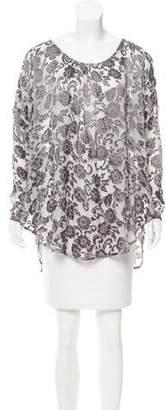 Calypso Embroidered Silk Tunic