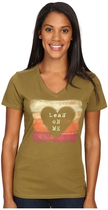 Life is good Lean On Me Heart Crusher Vee $26 thestylecure.com