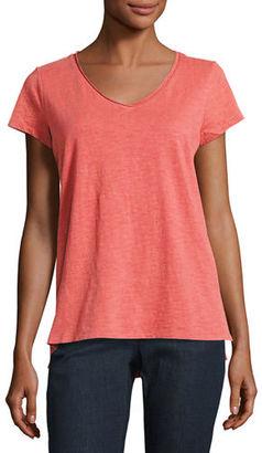 Eileen Fisher Slubby Organic Cotton Jersey Tee, Plus Size $88 thestylecure.com