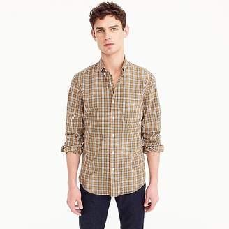J.Crew Stretch Secret Wash shirt in bronze plaid