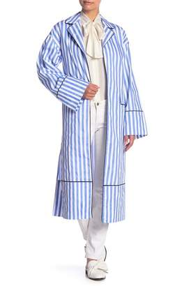 ENGLISH FACTORY Stripe Long Sleeve Jacket