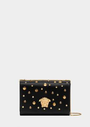 Versace Stud Nappa Leather Palazzo Sultan Bag