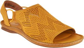 Clarks Artisan Leather Perforated Slip-on Sandals - Sarla Cadence