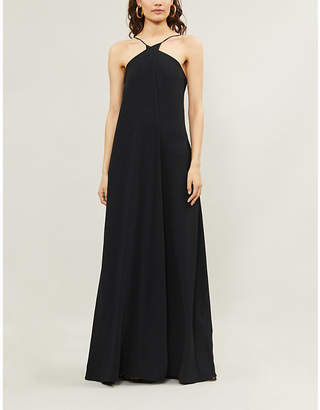 Victoria Beckham Low-back crepe maxi dress