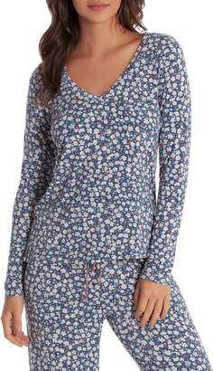 Jonquil In Bloom by Long Sleeve V-Neck Pajama Top