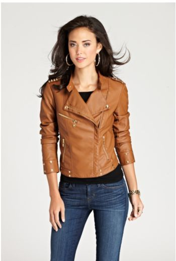 GUESS Spanish Faux-Leather Studded Jacket