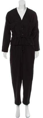 Black Crane Oversize Button Up Jumpsuit w/ Tags