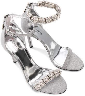 Calvin Klein Camelle Diamond & Swarovski Embellished Sandals