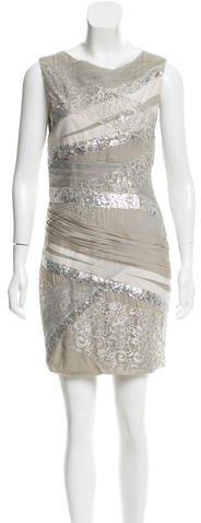 Alice + OliviaAlice + Olivia Lace-Paneled Sleeveless Dress