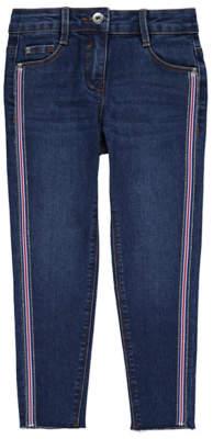 Bell George Dark Wash Embellished Side Stripe Skinny Jeans