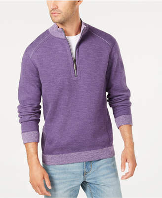 Tommy Bahama Men Reversible Flipsider Half-Zip Sweatshirt