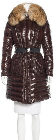 MonclerMoncler Fur-Trimmed Maillol Coat