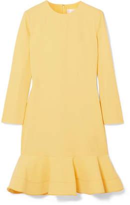 Victoria, Victoria Beckham - Flared Crepe Mini Dress - Bright yellow