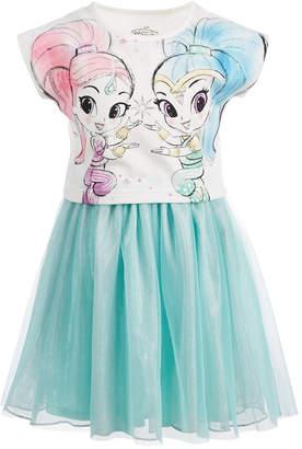 Nickelodeon Toddler Girls Shimmer & Shine Layered-Look Dress
