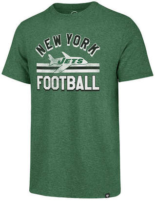 '47 Men's New York Jets Team Stripe Match Tri-Blend T-Shirt