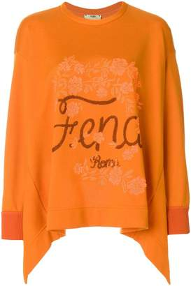 Fendi flared logo sweater
