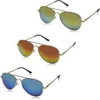 Zerouv ZV-9011l Wayfarer Sunglasses, Silver,Gold & Gunmetal