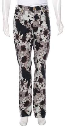 Versace Floral Straight-Leg Pants w/ Tags