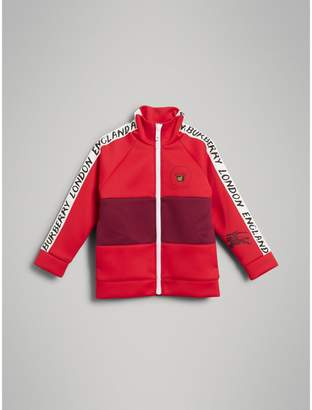 Burberry Bold Stripe Detail Tracksuit Top , Size: 8Y, Red