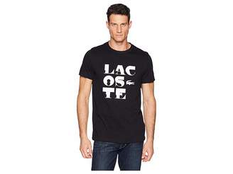 Lacoste Sport Short Sleeve Tech Jersey T-Shirt w Word Play