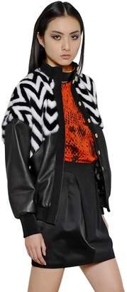 Ungaro Mink And Nappa Leather Jacket