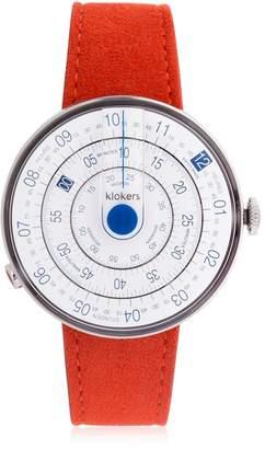 Klok-01 Orange Alcantara Watch