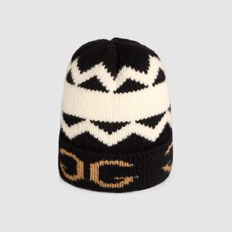 Gucci Wool hat with mirroredGG