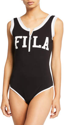 Fila Cheska Sleeveless Bodysuit w\/ Logo