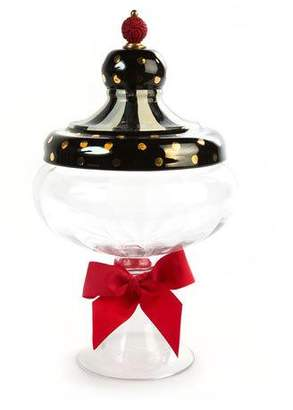 Mackenzie Childs MacKenzie-Childs Black Tie Apothecary Jar