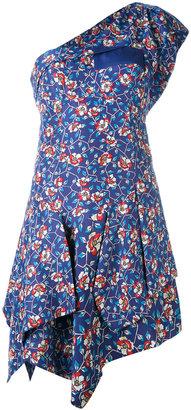 Isabel Marant floral one shoulder dress