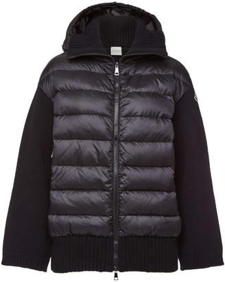 Moncler Cardigan with Wool, Cashmere and Down Filling