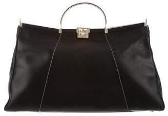 Kieselstein-Cord Leather Satchel
