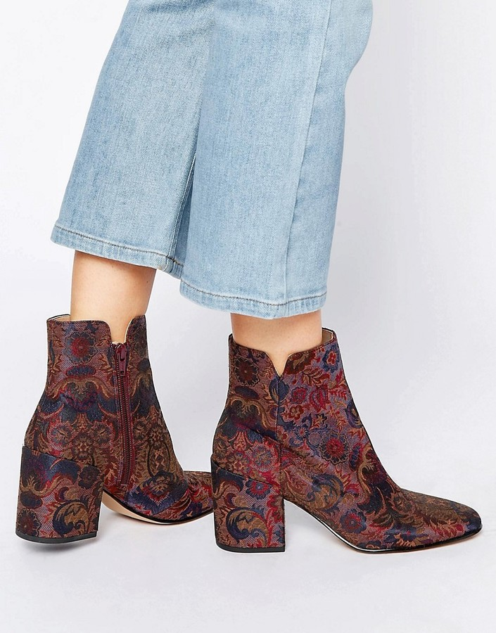 AldoALDO Sully Floral Block Heeled Ankle Boots