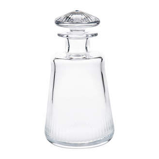 clear Moser - Conus Old Fashioned Decanter - Cut Grooves