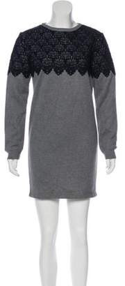 Manoush Embroidered Mini Dress Grey Embroidered Mini Dress