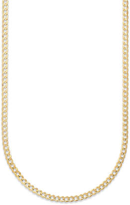 "Macy's Curb Chain 22"" Necklace (3-3/5mm) in Solid 14k Gold"