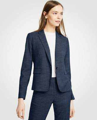 Ann Taylor Petite Textured One Button Perfect Blazer