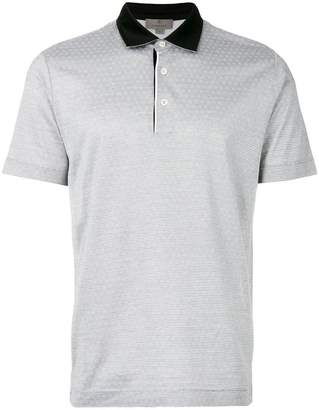 Canali patterned polo shirt