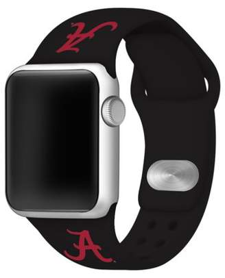 Affinity Bands Alabama Crimson Tide 38mm Silicone Sport Band for Apple Watch - Black