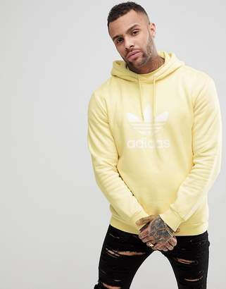 adidas adicolor Hoodie With Trefoil Logo In Yellow CW1243